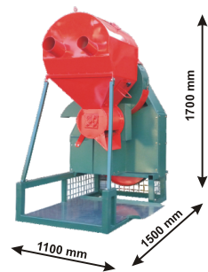 Size Hazelnut Vacuum Harvester Machine
